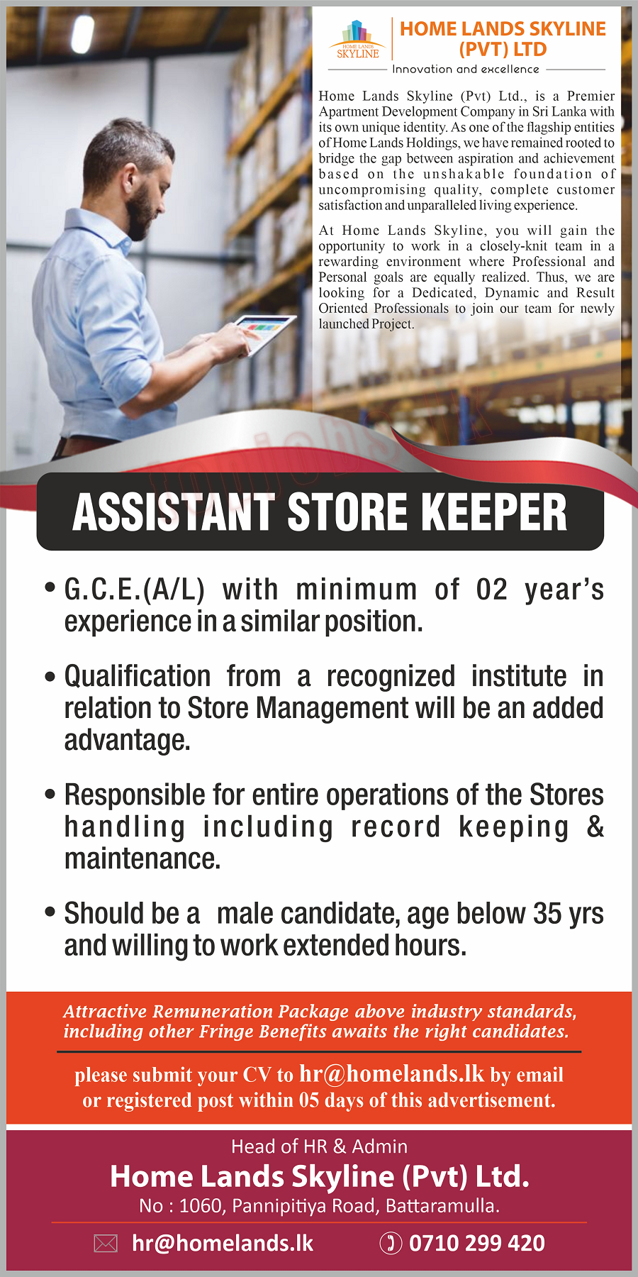 Assistant Store Keeper