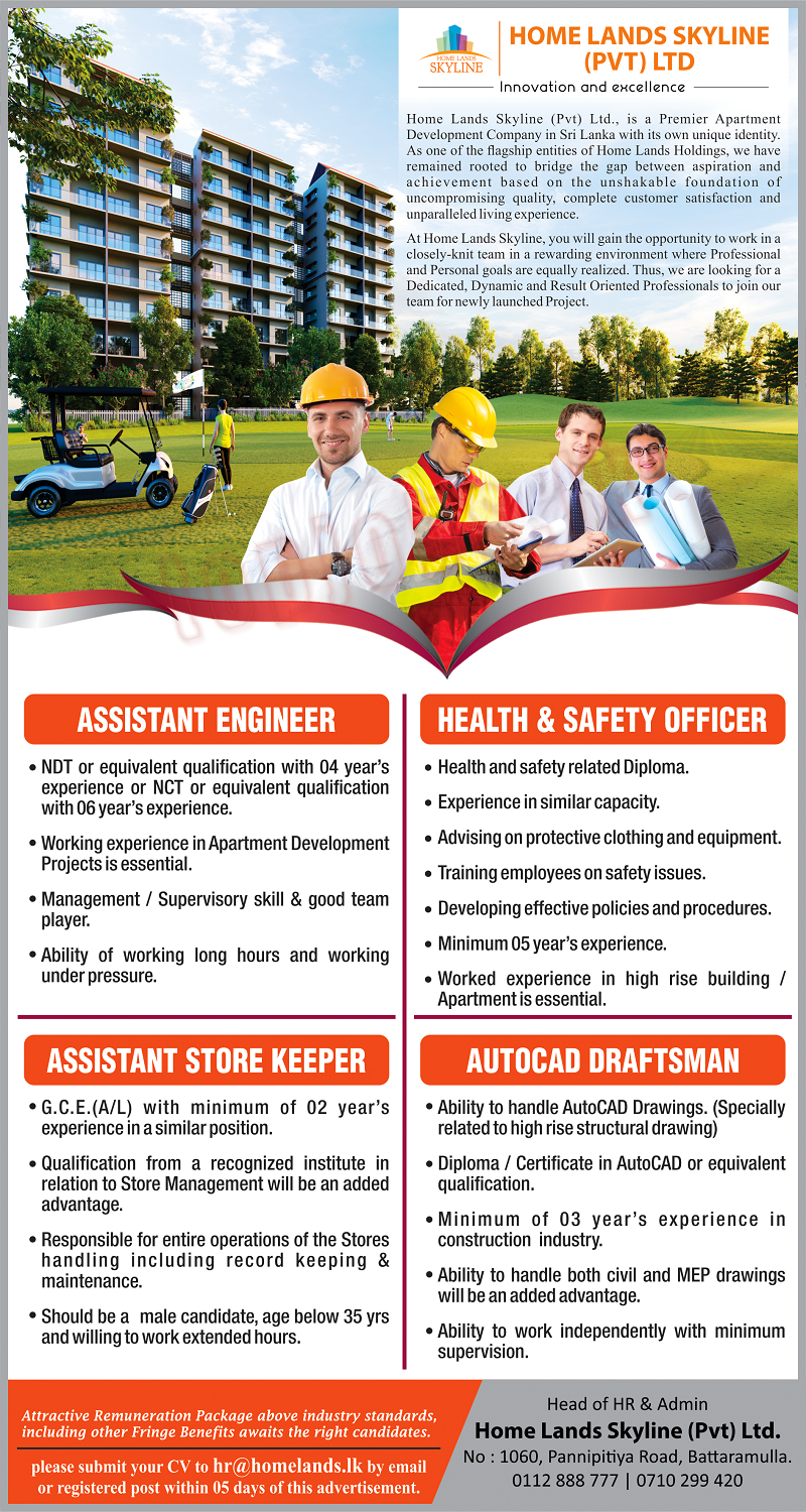 Assistant Engineer / Health & Safety Officer / AutoCad Draftsman